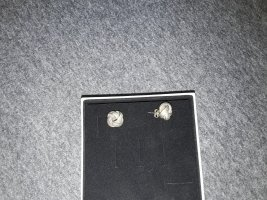 Ear stud silver-colored real silver