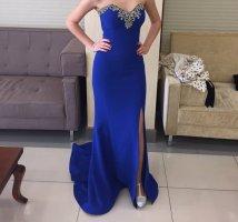 Königblaues Abendkleid
