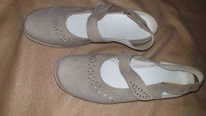 ara Comfortabele sandalen lichtgrijs Imitatie leer