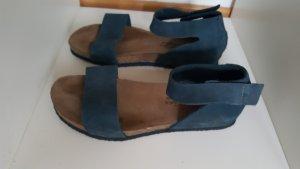 Sundias Sandales à lanière bleu foncé cuir