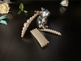 Zara Accesoires Tocado blanco-color oro