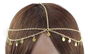 Fashion Jewelry Hoofdsieraden goud Oranje Metaal