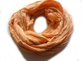 Kopftuch Schal Organza orange glitzer Achtziger Buddha Buddhismus