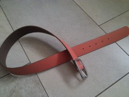 edc by Esprit Leather Belt salmon-silver-colored leather