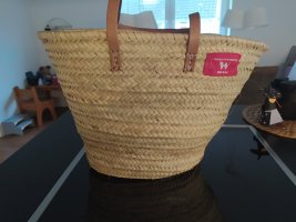 World of Baskets Panier beige clair-rose