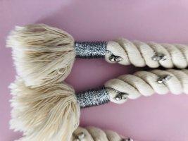 Fabric Belt natural white-grey cotton