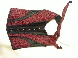 Corsage black-dark red