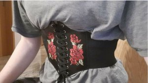 keine Marke Waist Belt black-red