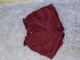 FB Sister Pantaloncino a vita alta rosso scuro
