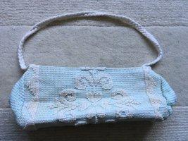 Canvas Bag light blue-white