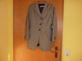Kostüm von Jil Sander, Größe 38, Wolle, Muster grau-braun