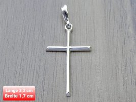 Kreuz Anhänger aus echtem Silber 925
