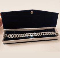 Kubanische Kette Silber Diamanten Unisex Kette