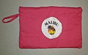 Unbekannte Marke Stoffen tas wit-roze