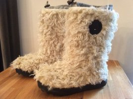 Tommy Hilfiger Fur Boots cream fake fur