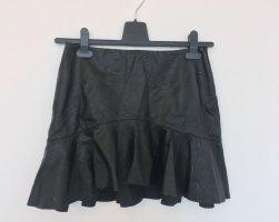 Zara Minigonna nero Finta pelle