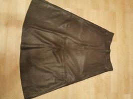 Mango Suit Faux Leather Skirt grey-dark grey