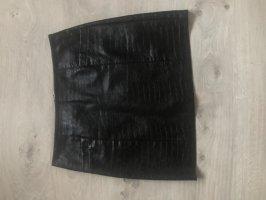 New Look Spódnica z imitacji skóry czarny