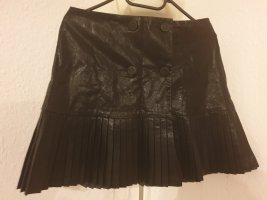 Zara Basic Faux Leather Skirt black mixture fibre