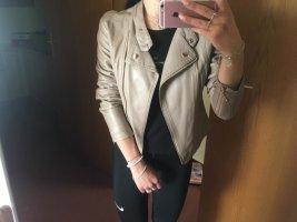 L' olive verte Faux Leather Jacket beige-light brown