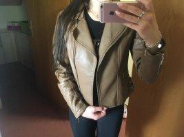 Attentif Faux Leather Jacket brown