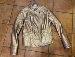 Regular Denim Jack van imitatieleder goud