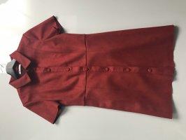 Zara Vestito in pelle carminio-rosso scuro