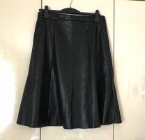 Reserved Spódnica z imitacji skóry czarny Poliuretan