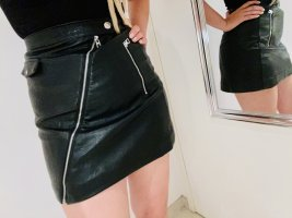 H&M Divided Gonna in ecopelle nero