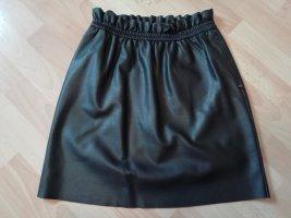 Tom Tailor Faux Leather Skirt black mixture fibre