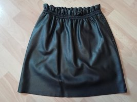 Tom Tailor Jupe en cuir synthétique noir tissu mixte