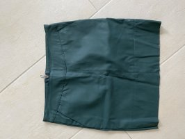 Only Faux Leather Skirt dark green-petrol