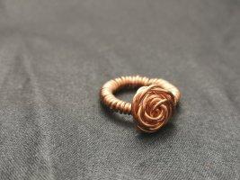Anello di fidanzamento bronzo-color oro rosa