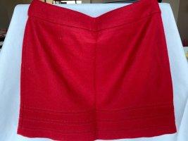 Jupe en laine rouge laine