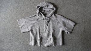 Sweter z kapturem jasnoszary-szary