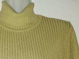 Kurzarm Rollkragenpullover in Oker/Gold