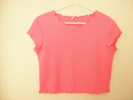 Only Pull à manches courtes rose fluo