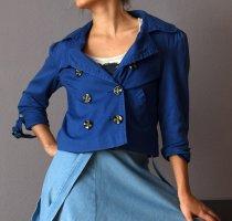 Athmosphere Krótki płaszcz niebieski Bawełna