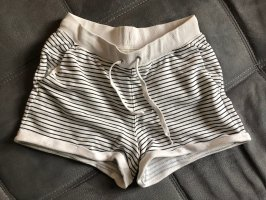 H&M Shorts white-black