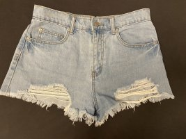 High-Waist-Shorts light blue