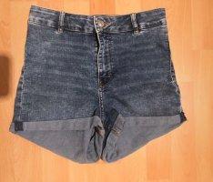 H&M Pantalon taille haute gris ardoise