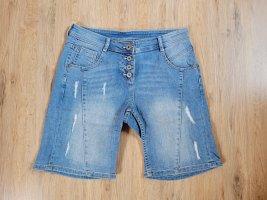 Gina Denim Shorts neon blue
