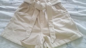 M&M Pantalón de pana negro-beige claro