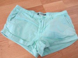 kurze Hotpants in türkis, Gr. 36, lässig, neuwertig
