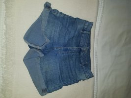 H&M Pantalón corto de talle alto azul