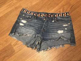Kurze Jeans-Shorts mit Stickerei