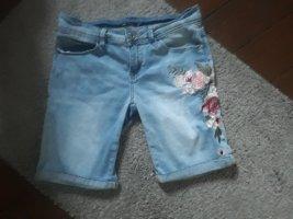 Colloseum Pantalón corto de tela vaquera rosa-azul celeste