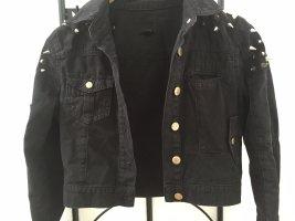 Kurze Jeansjacke mit Stacheln ASOS