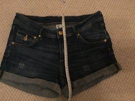 & DENIM Jeansowe szorty ciemnoniebieski