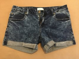 Kurze Jeansshorts meliert